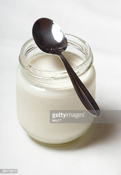 yogurt in glass jar