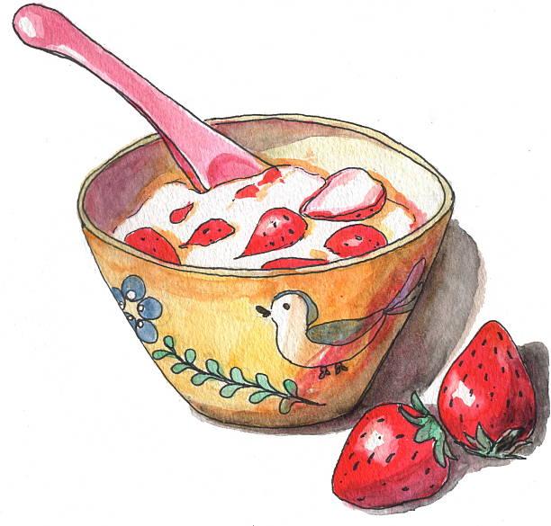Yogurt With Strawberries Wall Art