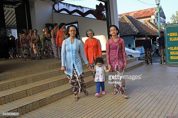 "Yogyakarta royal princess, GKR Mangkubumi and GKR Bendara attends the ceremony called ""Tumplak Wajik"" at Yogyakarta Palace, Indonesia on..."