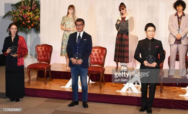 Yoh Yoshida, Meru Nukumi, Kiichi Nakai, Nicole Fujita, Ichiro Furutachi and Kenichi Takito attend the 33rd 'Japan Best Dressed Eyes Awards' at Tokyo...
