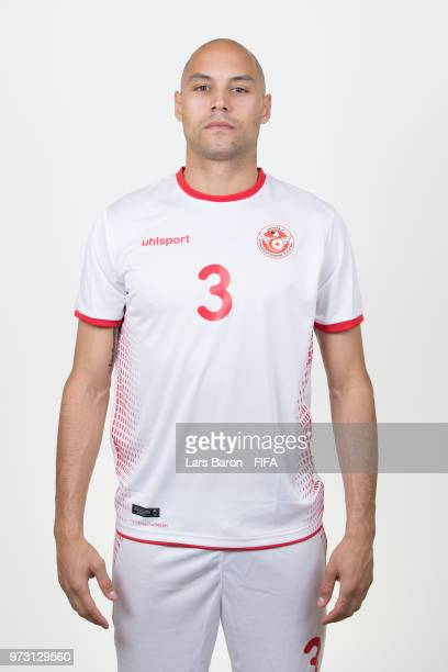 Yohan Ben Alouane of Tunisa poses during the official FIFA World Cup 2018 portrait session on June 13 2018 in Moscow Russia