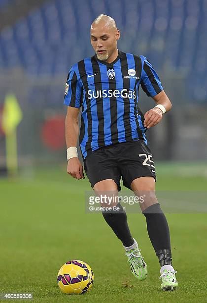 Yohan Benalouane of Atalanta BC in action during the Serie A match between SS Lazio and Atalanta BC at Stadio Olimpico on December 13 2014 in Rome...