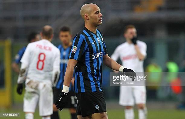 Yohan Benalouane of Atalanta BC walks off after getting a red card during the Serie A match between Atalanta BC and FC Internazionale Milano at...