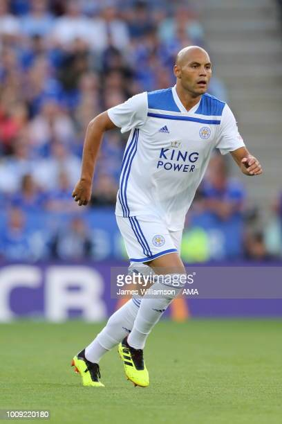Yohan Benalouane of Leicester City during the PreSeason Friendly between Leicester City and Valencia at The King Power Stadium on August 1 2018 in...