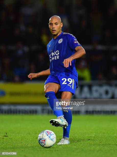Yohan Benalouane of Leicester City during the PreSeason Friendly match between Burton Albion v Leicester City at Pirelli Stadium on August 1 2017 in...