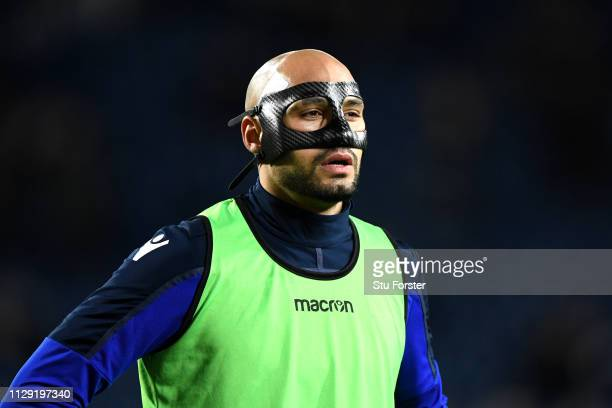Yohan Benalouane of Nottingham Forest warms up during the Sky Bet Championship match between West Bromwich Albion and Nottingham Forest at The...
