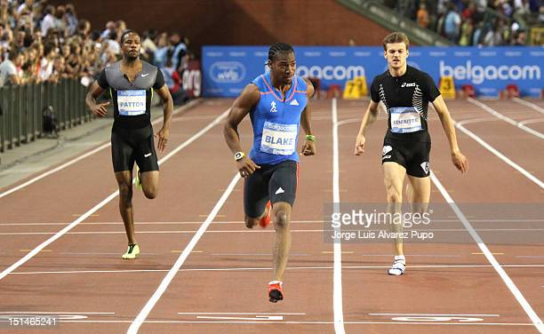 Yohan Blake of Jamaica competes during the Men's 200m and with 19S54 set his victory at the IAAF Golden League meeting at the Memorial Van Damme...
