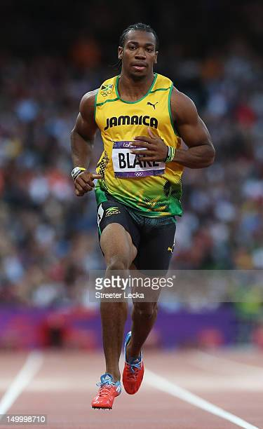 Yohan Blake of Jamaica competes in the Men's 200m Semifinals on Day 12 of the London 2012 Olympic Games at Olympic Stadium on August 8 2012 in London...