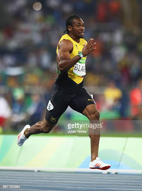 Yohan Blake of Jamaica competes in the Men's 200m Semifinals on Day 12 of the Rio 2016 Olympic Games at the Olympic Stadium on August 17, 2016 in Rio...