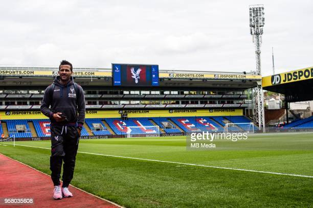 Yohan Cabaye of Crystal Palace arrives for the Premier League match between Crystal Palace and West Bromwich Albion at Selhurst Park on May 13 2018...