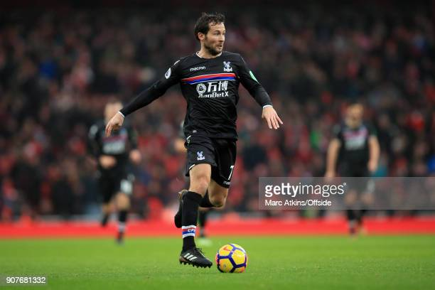 Yohan Cabaye of Crystal Palace during the Premier League match between Arsenal and Crystal Palace at Emirates Stadium on January 20 2018 in London...
