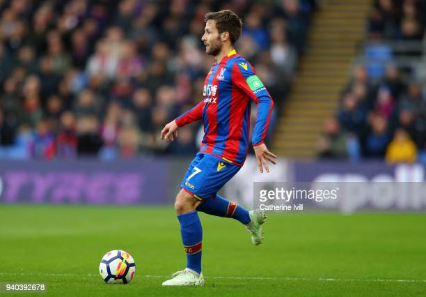 Yohan Cabaye of Crystal Palace during the Premier League match between Crystal Palace and Liverpool at Selhurst Park on March 31 2018 in London...
