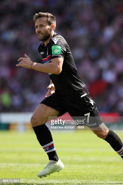 Yohan Cabaye of Crystal Palace during the Premier League match between Stoke City and Crystal Palace at Bet365 Stadium on May 5 2018 in Stoke on...
