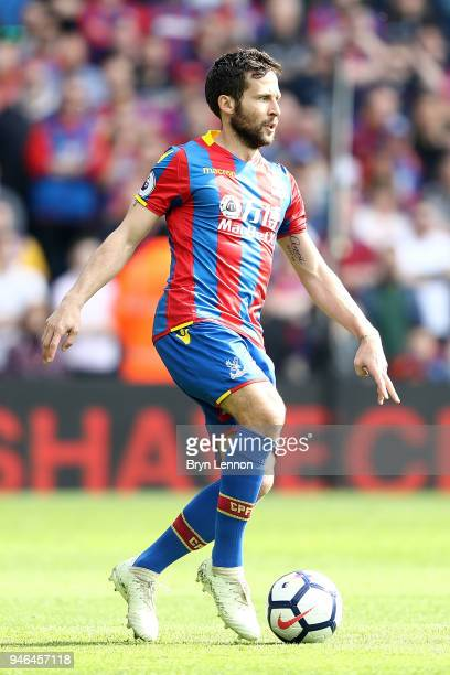 Yohan Cabaye of Crystal Palace in action during the Premier League match between Crystal Palace and Brighton and Hove Albion at Selhurst Park on...
