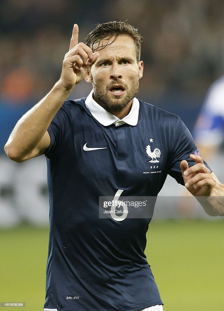 Yohan Cabaye of France celebrates his goal during the international friendly match between France and Armenia at Allianz Riviera stadium on October 8, 2015 in Nice, France.