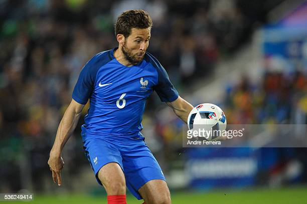Yohan Cabaye of France during the international friendly match between France and Cameroon at Stade de la Beaujoire on May 30 2016 in Nantes France