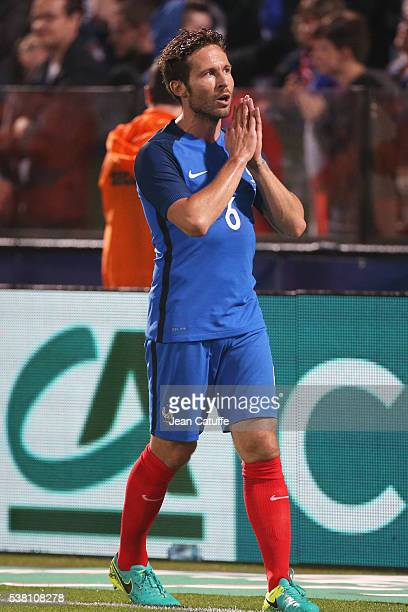 Yohan Cabaye of France gestures during the international friendly match between France and Scotland at Stade Saint Symphorien on June 4 2016 in Metz...