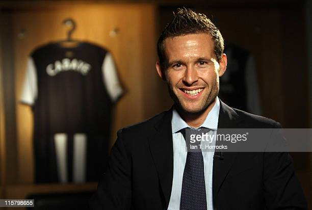 Yohan Cabaye poses at St James' Park after signing for Newcastle United from French champions Lille OSC on June 10 2011 in Newcastle Upon Tyne England
