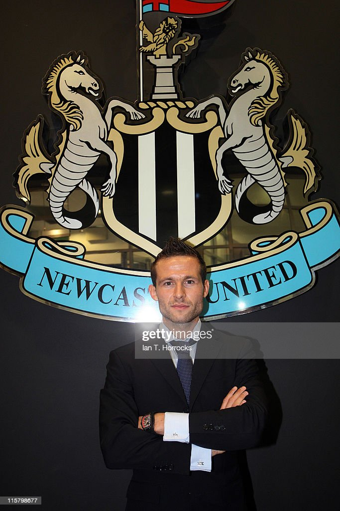 Yohan Cabaye poses at St James' Park after signing for Newcastle United from French champions Lille OSC on June 10, 2011 in Newcastle Upon Tyne, England.