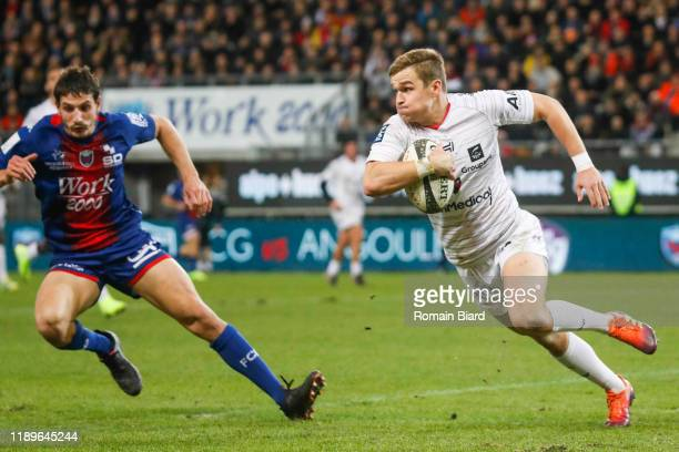 Yohan LE BOURHIS of Oyonnax during the Pro D2 match between Grenoble and Oyonnax at Stade des Alpes on December 19, 2019 in Grenoble, France.