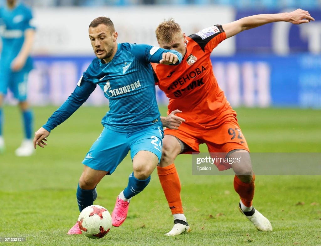 Yohan Mollo (l.) only had limited playing time at Zenit. (Photo by Epsilon/Getty Images)
