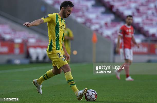 Yohan Tavares of CD Tondela in action during the Liga NOS match between SL Benfica and CD Tondela at Estadio da Luz on June 4 2020 in Lisbon Portugal