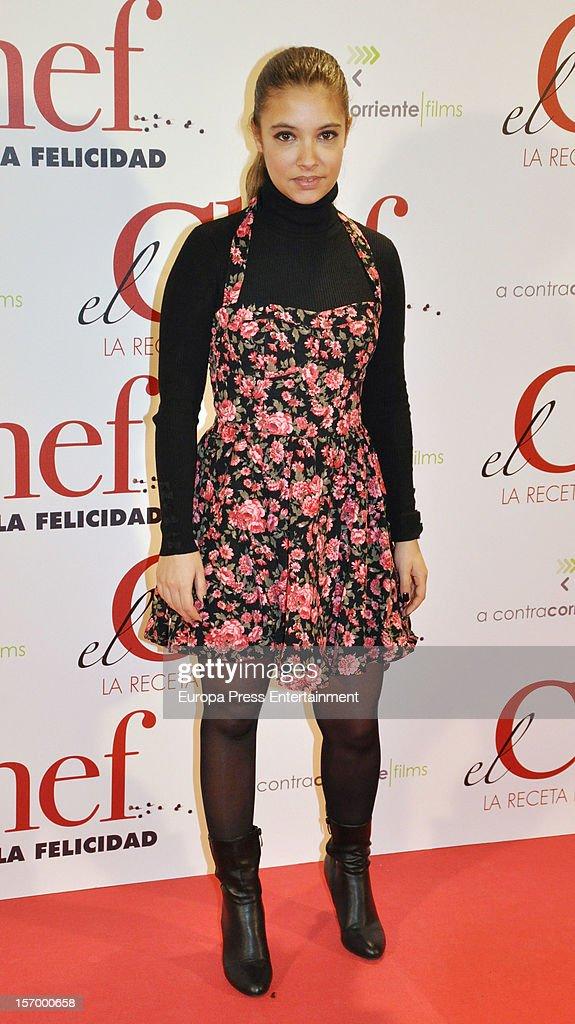 Yohana Cobo attends 'El Chef, La Receta de la Felicidad' premiere on November 26, 2012 in Madrid, Spain.