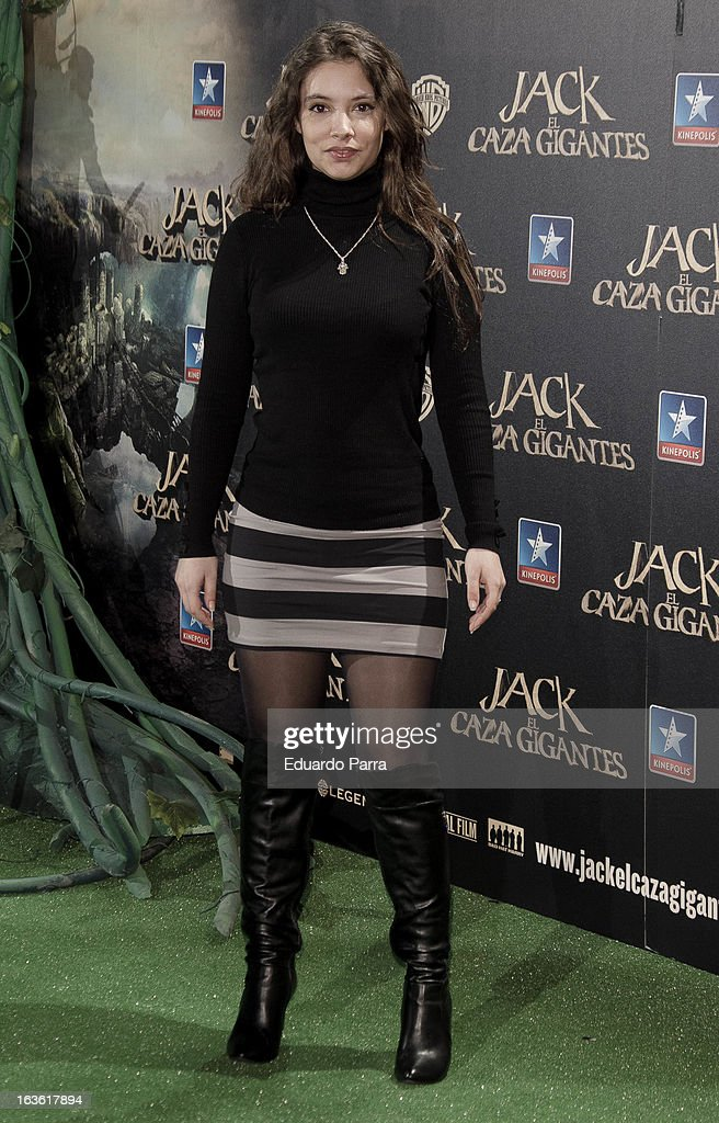 Yohana Cobo attends 'Jack el Caza Gigantes' premiere photocall at Kinepolis cinema on March 13, 2013 in Madrid, Spain.