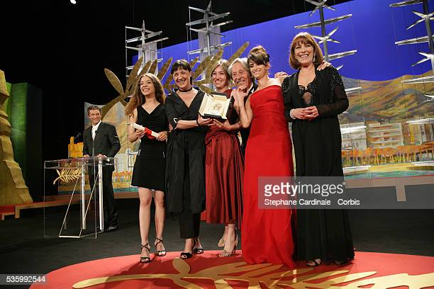 Yohana Cobo Blanca Portillo Lola Duenas Penelope Cruz and Carmen Maura actresses from the female cast of 'Volver' that received the Best Female...
