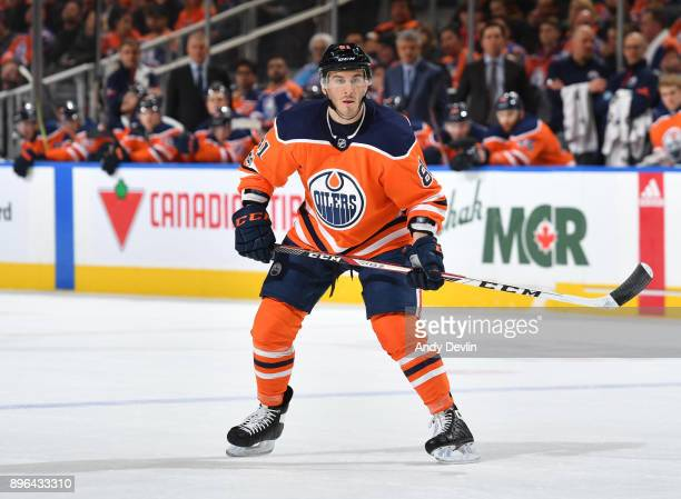 Yohann Auvitu of the Edmonton Oilers skates during the game against the Philadelphia Flyers on December 6 2017 at Rogers Place in Edmonton Alberta...
