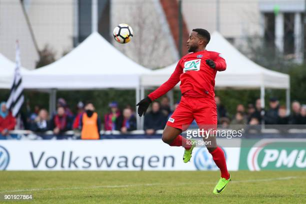 Yohann Lasimant of Concarneau during the french National Cup match between Houilles and Concarneau on January 6 2018 in Houilles France