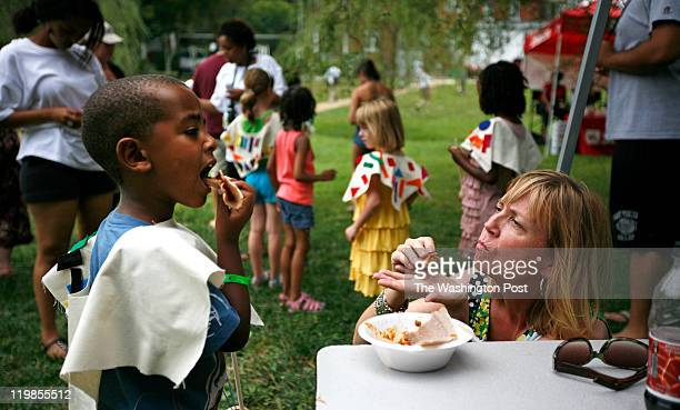 Yohannes Armstrong 6 of Nashville Tn tastes a spicy Ethiopian dish with his mother Patricia Armstrong The food was made during a cooking demonstation...