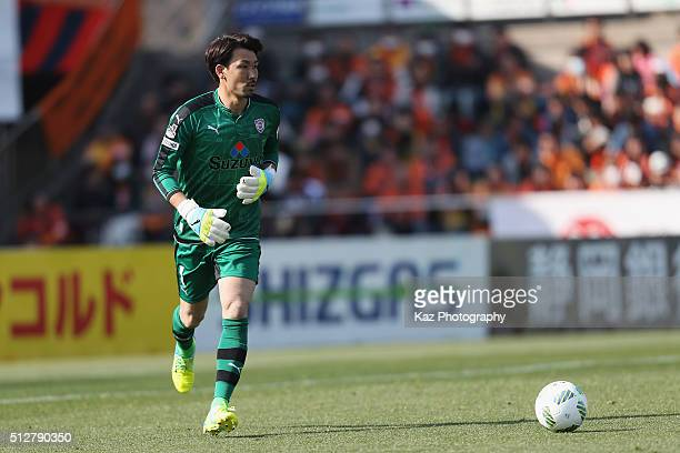 Yohei Nishibe of Shimizu SPulse in action during the JLeague second division match between Shimizu SPulse and Ehime FC at the IAI Stadium Nihondaira...