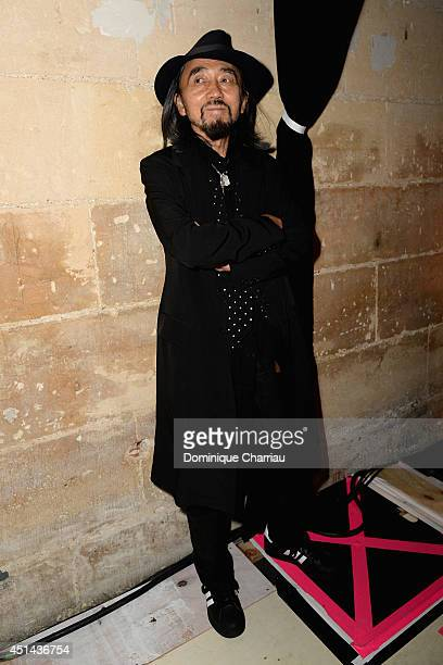 Yohji Yamamoto attends the Y-3 Spring/Summer 2015 Show as part of Paris Fashion Week Menswear S/S 2015 at Couvent des Cordeliers on June 29, 2014 in...