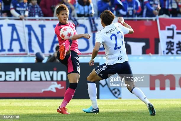 Yoichiro Kakitani of Cerezo Osaka in action during the 97th All Japan Football Championship final between Cerezo Osaka and Yokohama FMarinos at the...
