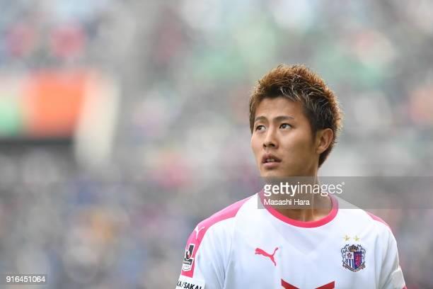 Yoichiro Kakitani of Cerezo Osaka looks on during the Xerox Super Cup match between Kawasaki Frontale and Cerezo Osaka at the Saitama Stadium on...