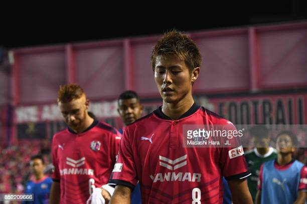 Yoichiro Kakitani of Cerezo Osaka shows dejection after 14 defeat in the JLeague J1 match between Cerezo Osaka and Vegalta Sendai at Kincho Stadium...