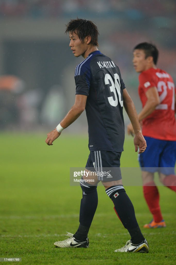 Yoichiro Kakitani of Japan in action during the EAFF East Asian Cup match between Korea Republic (South Korea) and Japan at Jamsil Stadium on July 28, 2013 in Seoul, South Korea.