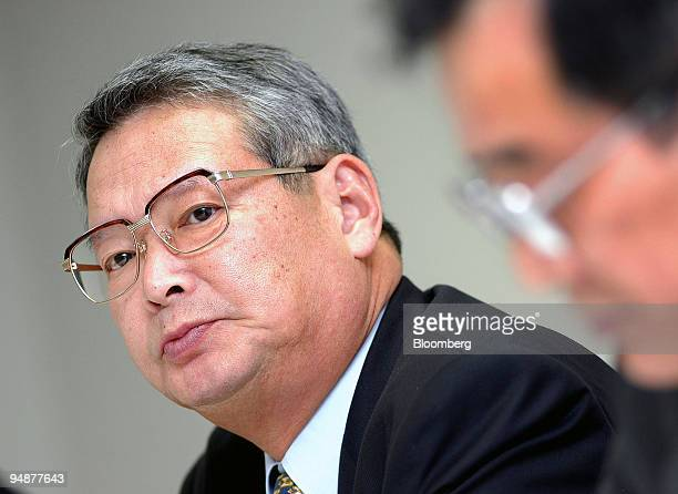 Yoji Ohashi President of All Nippon Airways Co speaks to reporters at a press conference in Tokyo Thursday March 4 2004 Asia's secondlargest airline...