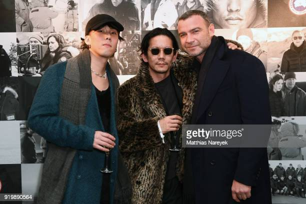 Yojiro Noda Kunichi Nomura and Liev Schreiber Cast of 'Isle of Dogs' attend the Studio Babelsberg Night X Canada Goose on the occasion of the 68th...