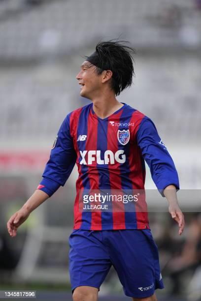 Yojiro TAKAHAGI of FC Tokyo in action during the J.League Levain Cup Semi Final second leg match between FC Tokyo and Nagoya Grampus at Ajinomoto...