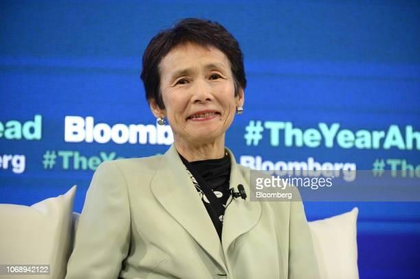 Yoko Ishikura professor at Hitotsubashi University attends the Bloomberg Year Ahead summit in Tokyo Japan on Thursday Dec 6 2018 The summit addresses...