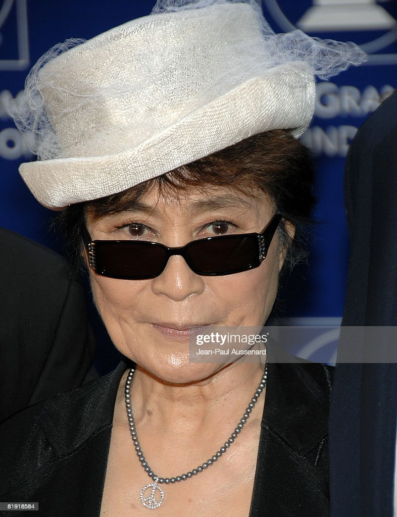Yoko Ono arrives at the GRAMMY Foundation Starry Night held at the University of Southern California on July 12th, 2008 in Los Angeles, California.