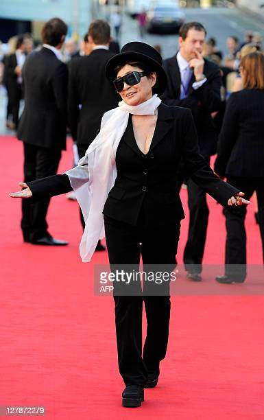 Yoko Ono arrives to attend 'George Harrison Living In The Material World' film documentary UK premiere at BFI Southbank on October 2 2011 AFP PHOTO /...