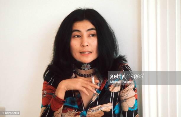 Yoko Ono at home during John Lennon interview Tittenhurst Park near Ascot Berkshire July 1971