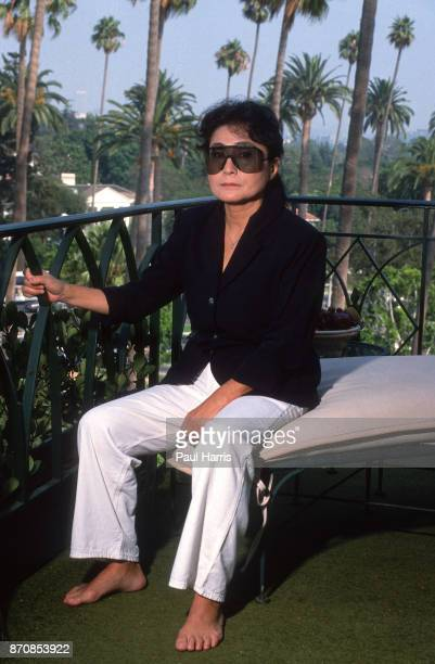 Yoko Ono at the Beverly Hills Hotel July 12 1988 Beverly Hills Hotel Los Angeles California where she stays when she visits from California