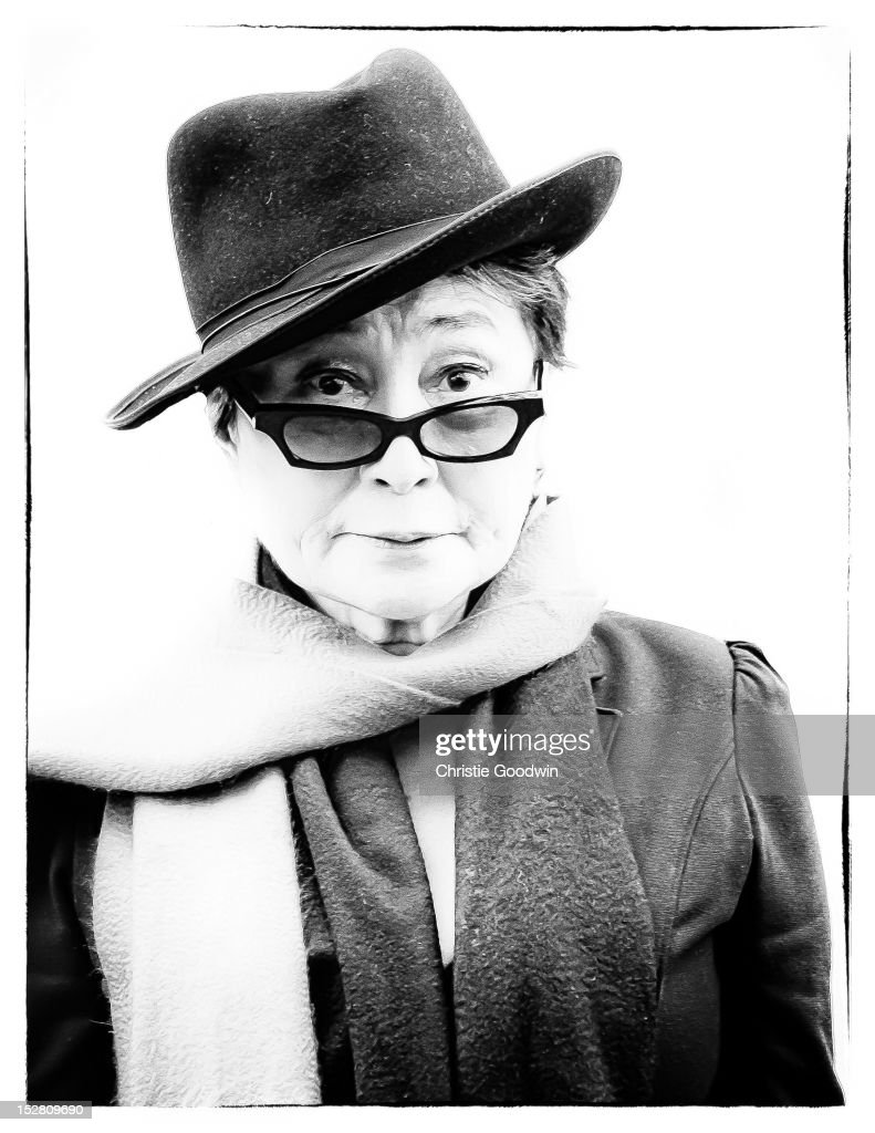Yoko Ono at the unveiling of an English Heritage blue plaque at 34 Montagu Square, which in 1968 was the first home Yoko Ono shared with John Lennon while working on The Beatles' White Album, on October 23, 2010 in London, England.
