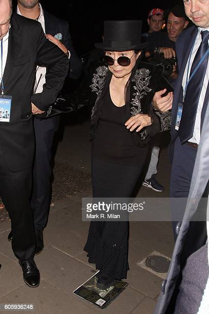 Yoko Ono attending The Beatles Eight Days A Week premiere after party on September 15 2016 in London England