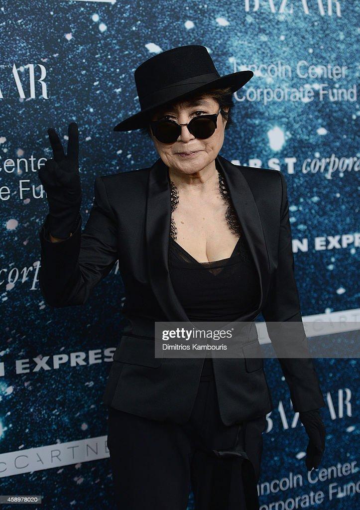 Yoko Ono attends 2014 Women's Leadership Award Honoring Stella McCartney at Alice Tully Hall at Lincoln Center on November 13, 2014 in New York City.