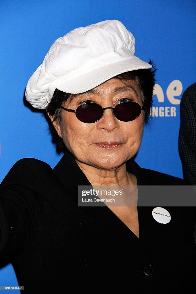 Yoko Ono attends the 5th annual Imagine There's No Hunger Campaign launch at the Hard Rock Cafe, Times Square on November 19, 2012 in New York City.